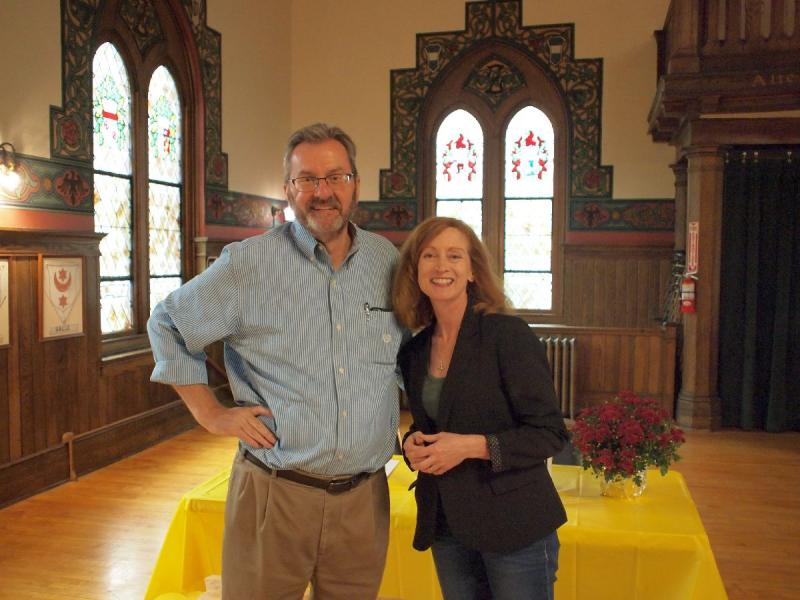 Maureen O'Prey and Mark Duerr at Gritsch Fund Beer Talk 2018